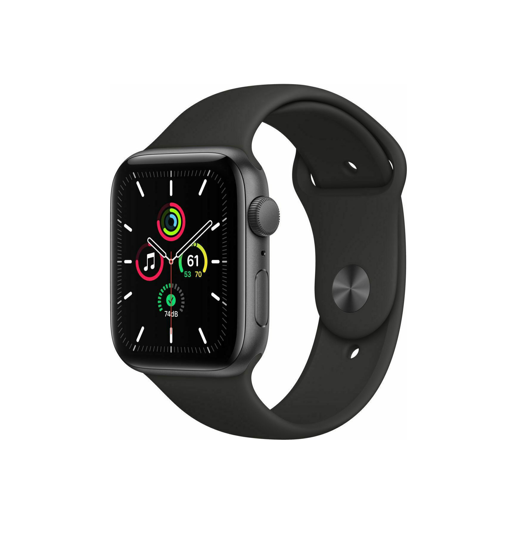 Apple Watch SE 44mm Aluminium Space Gray Sport Band MYDT2 Πληρωμή έως 24 δόσεις
