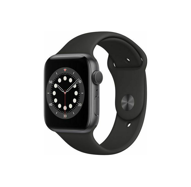 Apple Watch Series 6 44mm Aluminium Space Grey Sport Band M00H3 Πληρωμή έως 24 δόσεις