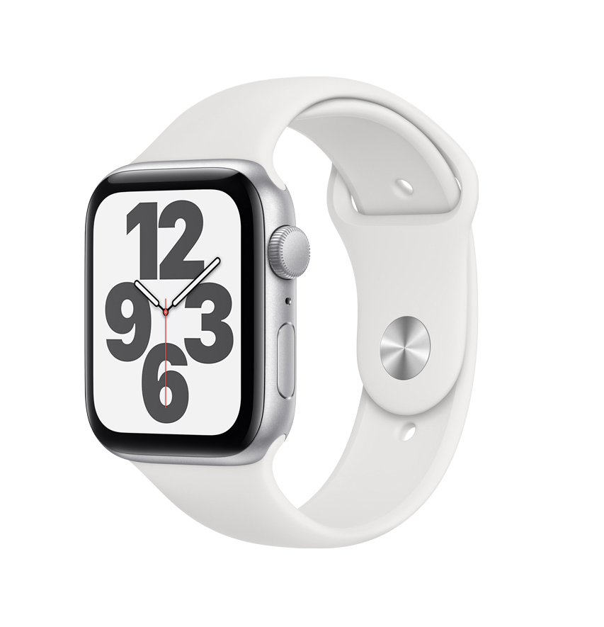 Apple Watch SE 44mm Aluminium Silver White Sport Band MYDQ2 Πληρωμή έως 24 δόσεις
