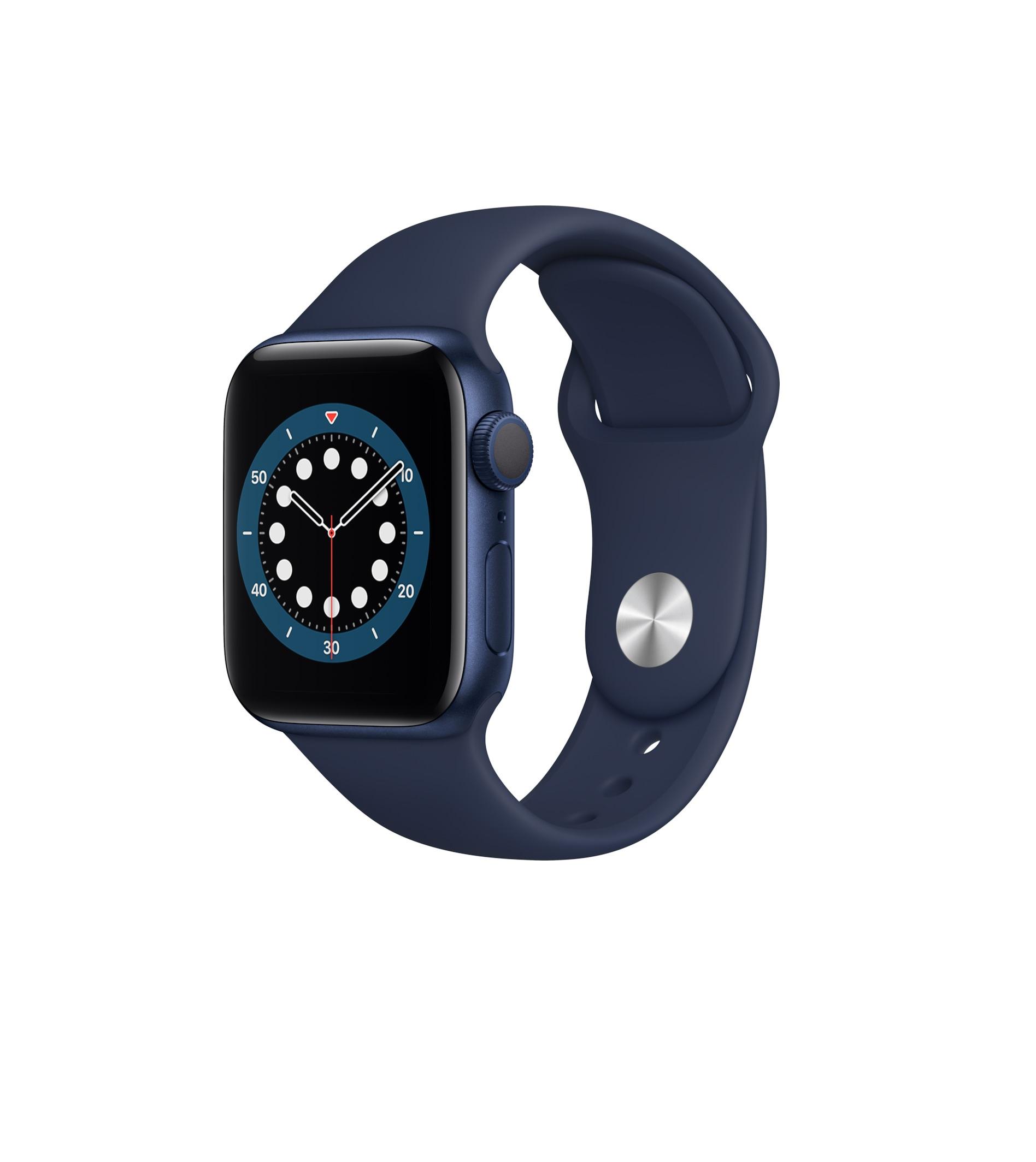 Apple Watch Series 6 44mm Aluminium Blue Sport Band M00J3 Πληρωμή έως 24 δόσεις