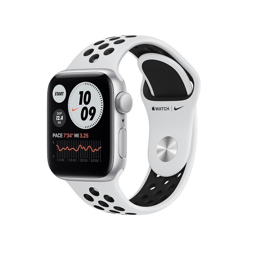 Apple Watch Series 6 Nike 44mm Aluminium Silver MG293 Πληρωμή έως 24 δόσεις