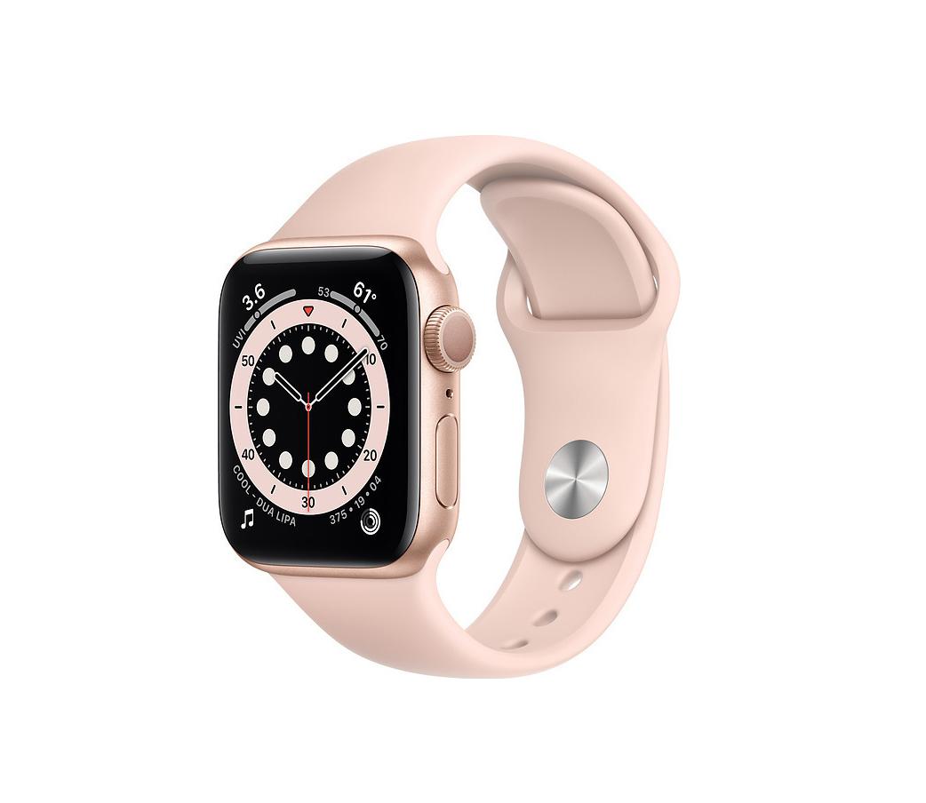 Apple Watch Series 6 44mm Aluminium Gold Pink Sport Band M00E3 Πληρωμή έως 24 δόσεις