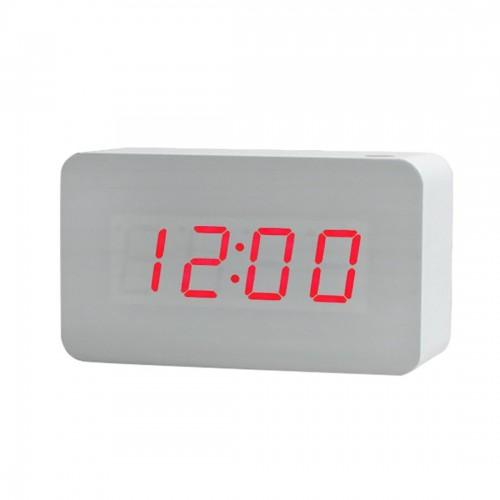 Ξύλινο Ρολόι Λευκό OEM KL-2Q