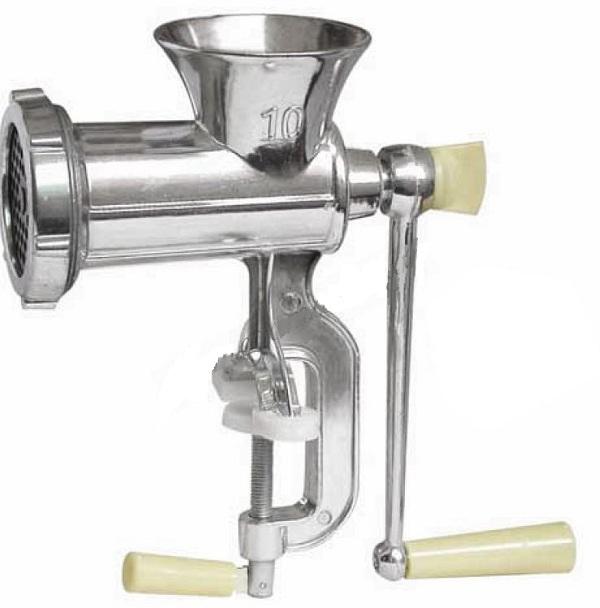Χειροκίνητη Μηχανή Άλεσης Κρέατος από Αλουμίνιο Νο10