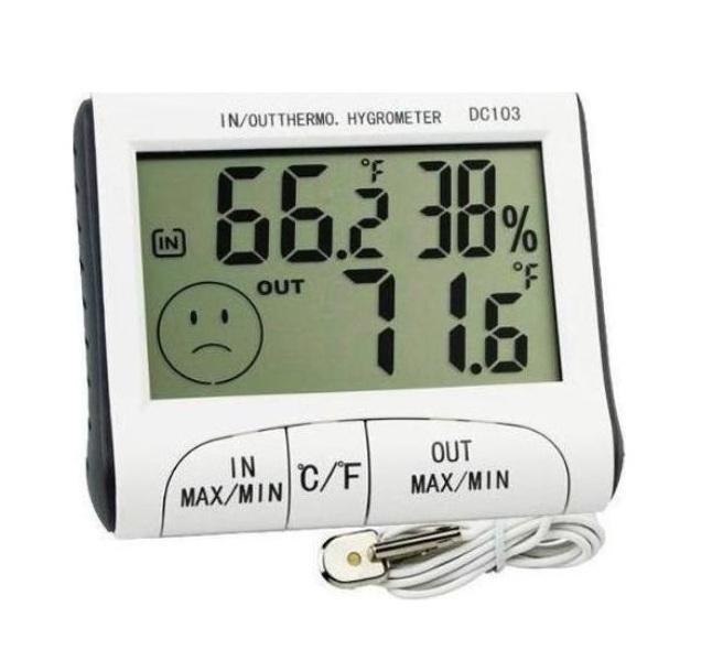 Ψηφιακό θερμόμετρο, υγρόμετρο εσωτερικού - εξωτερικού χώρου ακριβείας DC103