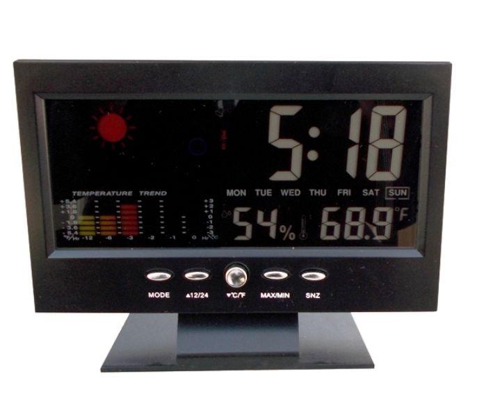 Ρολόι και μετεωρολογικός σταθμός