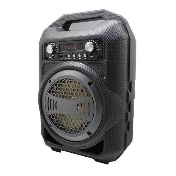 Ανθεκτικό Μίνι Ηχοσύστημα Bluetooth Ηχείο 9W με FM Radio και Φωτισμό LED – BS12