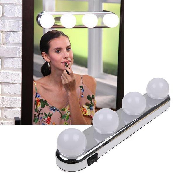 Φωτιστικό καθρέφτη με 4 λάμπες και βεντούζες