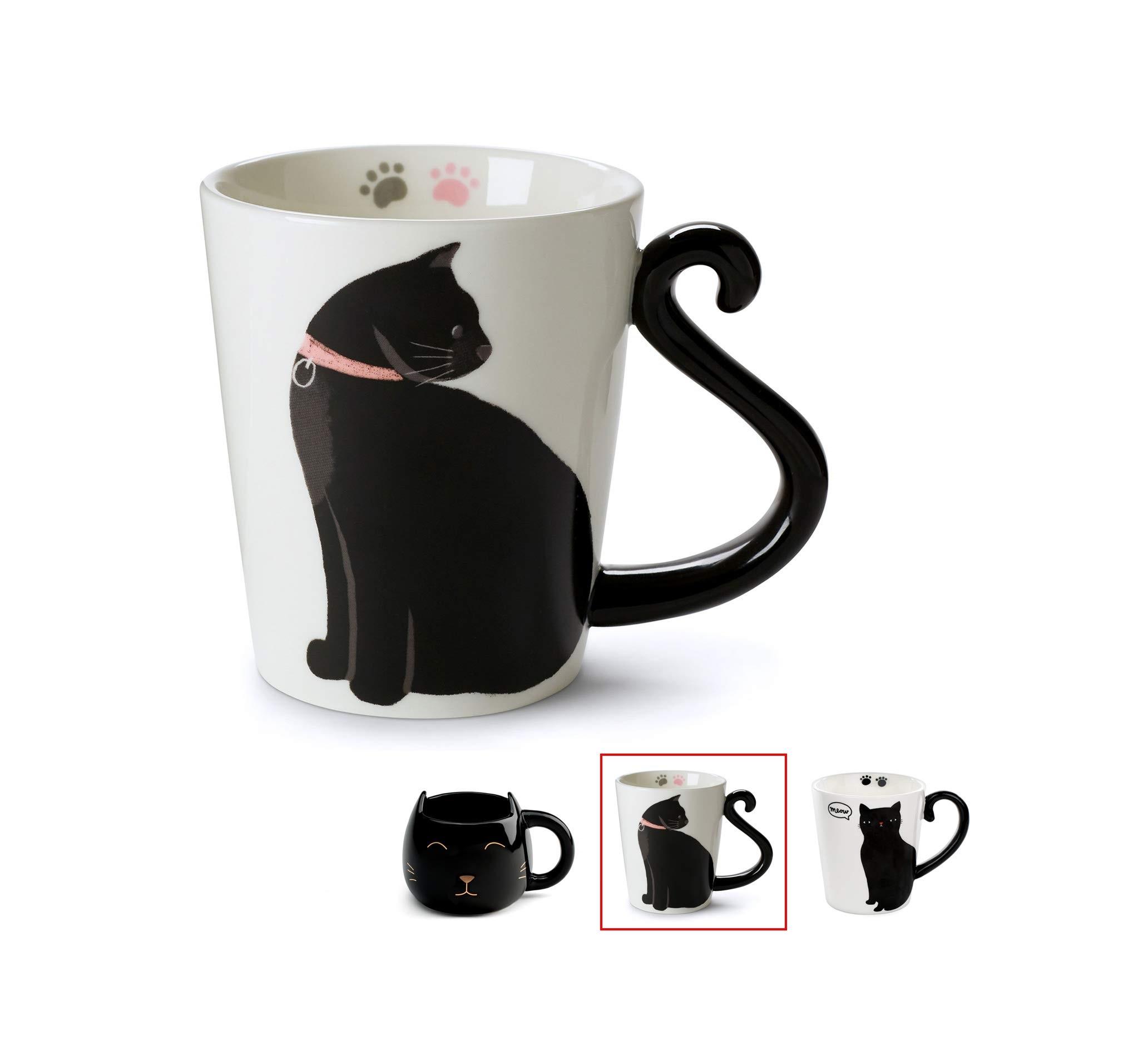 Κούπα γάτα με λαβή ουρά