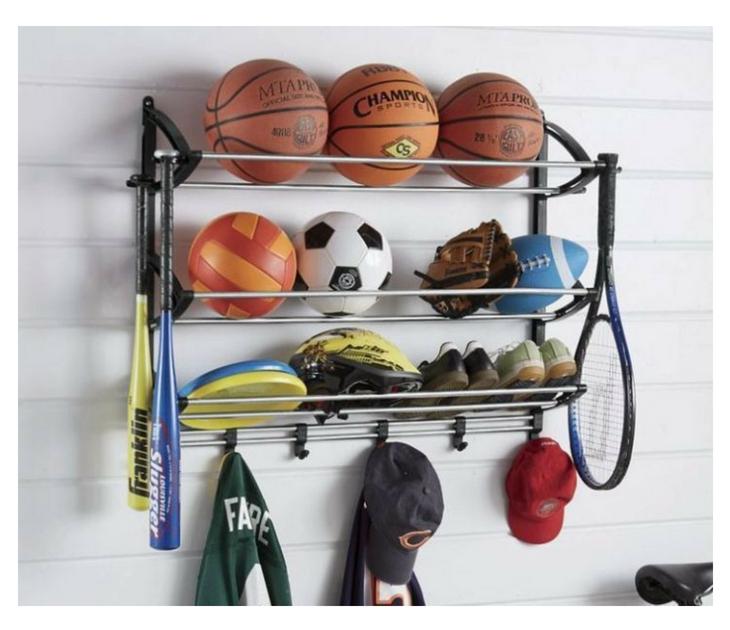 Ράφια αποθήκευσης αθλητικού εξοπλισμού