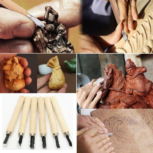 Σετ 6 τεμάχια εργαλεία γλυπτικής ξύλου
