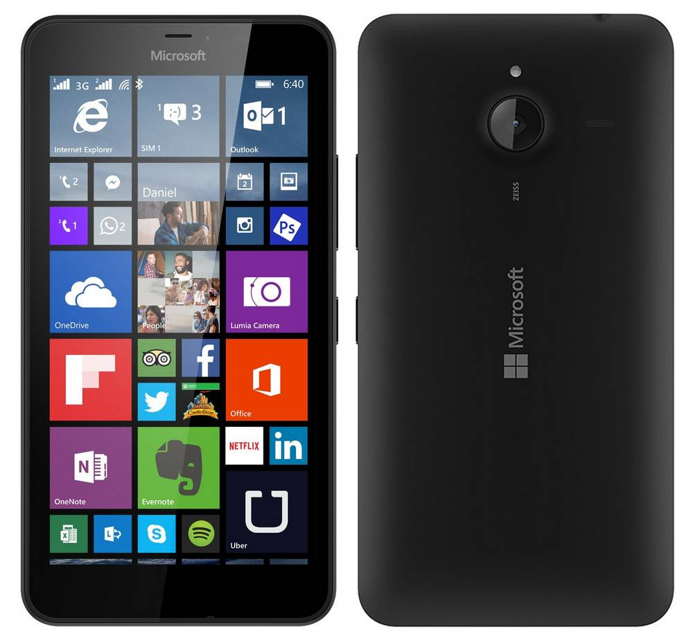Microsoft Lumia 640 XL LTE Black EU (Δώρο Tempered Glass + Θήκη)