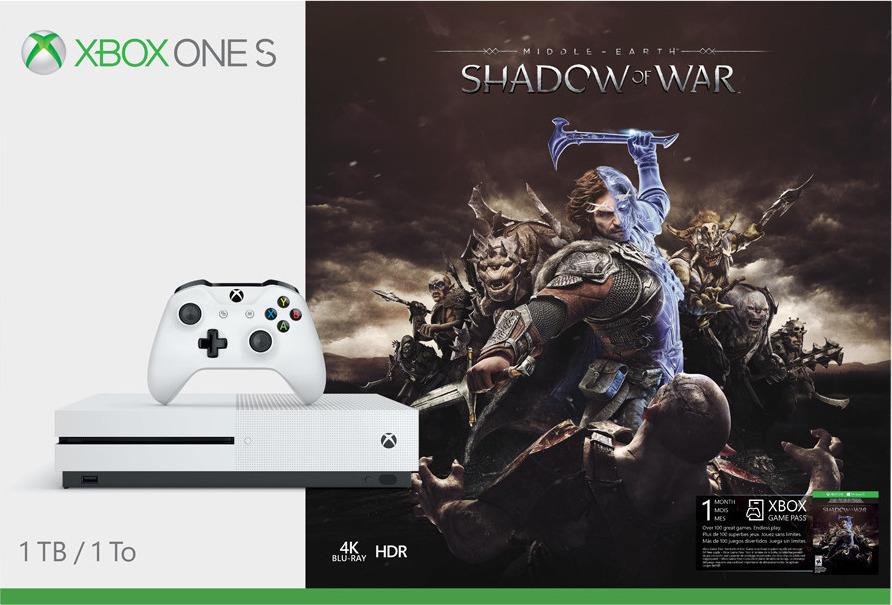 Microsoft Xbox One S 1TB & Shadow Of War Πληρωμή έως 12 δόσεις