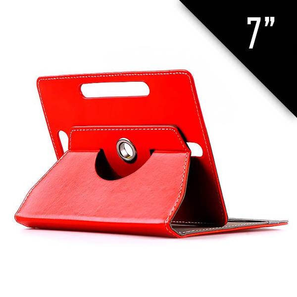 """Περιστρεφόμενη universal θήκη - βάση για Tablet 7'' - OEM22128 - 360 Rotating/Stand Case for 7"""" Tablets - Κόκκινο"""