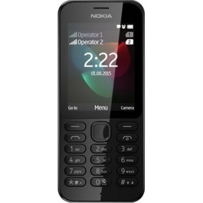 Nokia 222 Single Black UK (Αγγλικός Φορτιστής + Αντάπτορας)