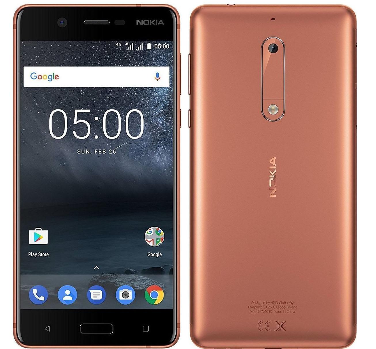 Nokia 5 Dual 16 Copper EU (Δώρο Tempered Glass + Θήκη)