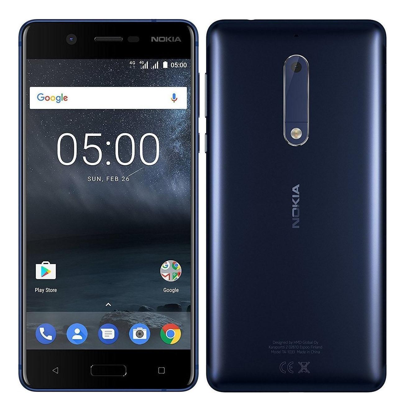 Nokia 5 Dual 16 Blue EU (Δώρο Tempered Glass + Θήκη)