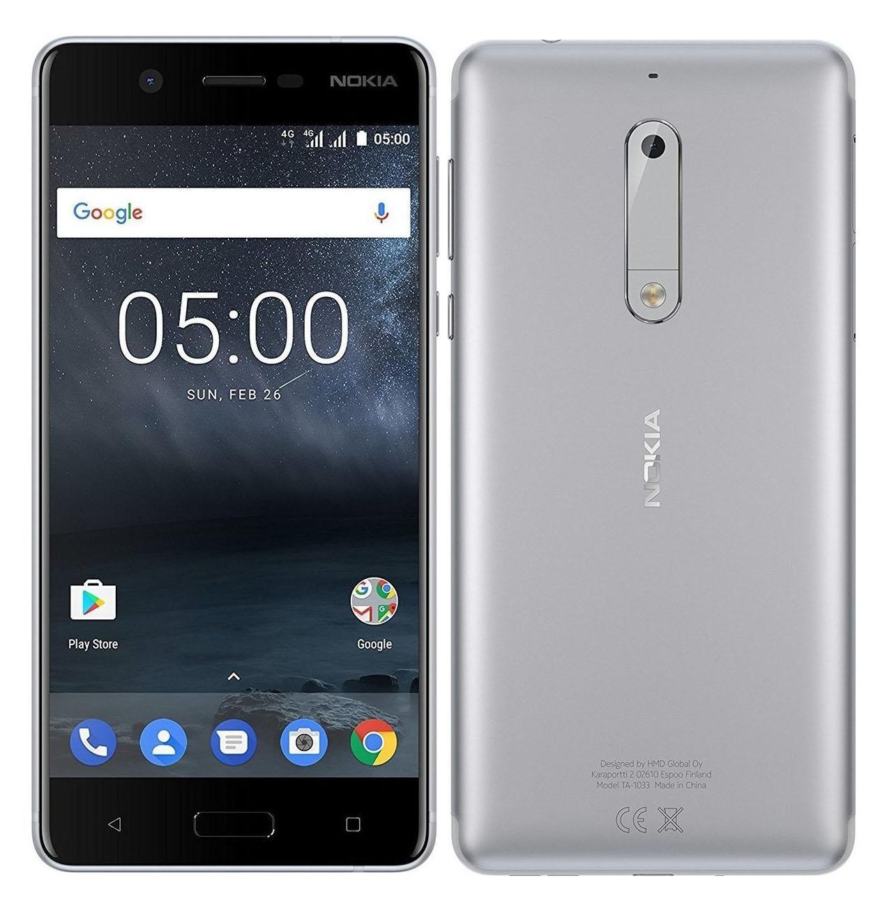Nokia 5 Dual 16 Silver EU (Δώρο Tempered Glass + Θήκη)