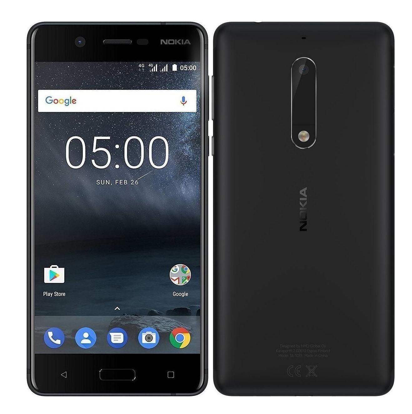 Nokia 5 Dual 16 Black EU (Δώρο Tempered Glass + Θήκη)