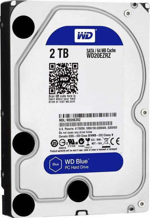 Western Digital Blue 2TB WD20EZRZ Σκληρός Δίσκος 3.5'' Sata 3