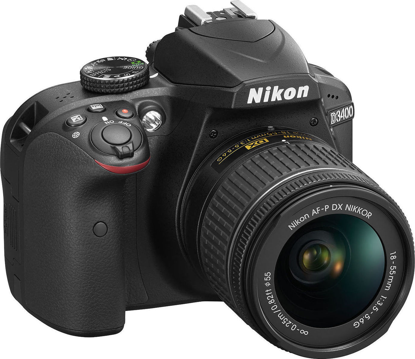 Nikon D3400 Kit AF-P DX 18-55mm f/3.5-5.6G VR Black Πληρωμή έως 12 δόσεις
