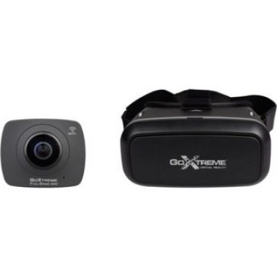 GoXtreme EasyPix Full Dome 360 Camera VR Headset Bundle