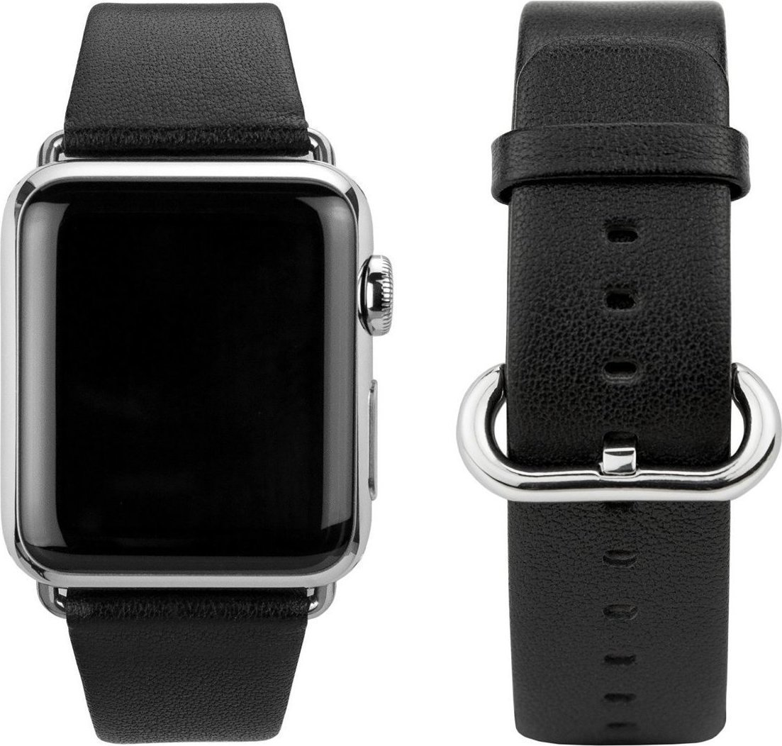 CASEual Leather Band Black for Apple Watch 38mm Λουράκι