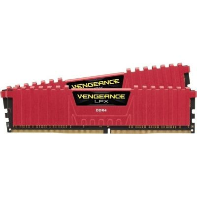 Corsair Vengeance LPX 8GB (2x4GB) DDR4-2133MHz Μνήμες Ram Red