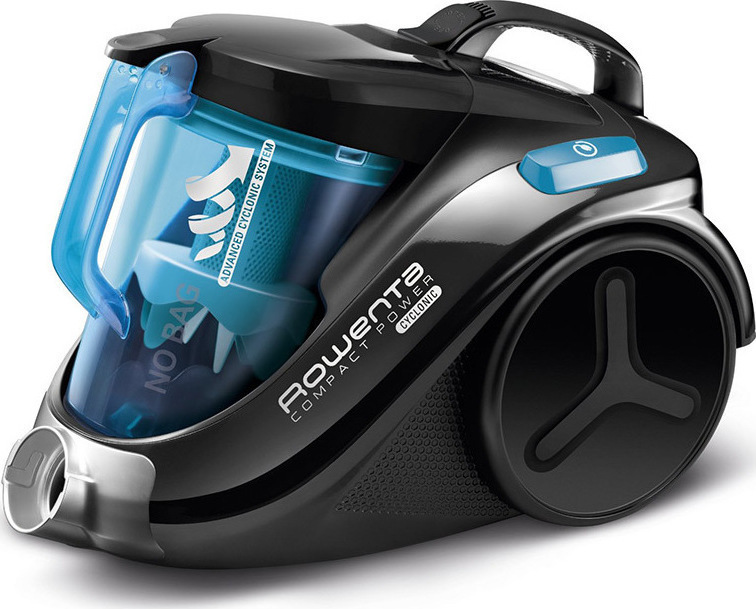 Rowenta Compact Power Cyclonic Vacuum Cleaner RO3731 Black/Blue