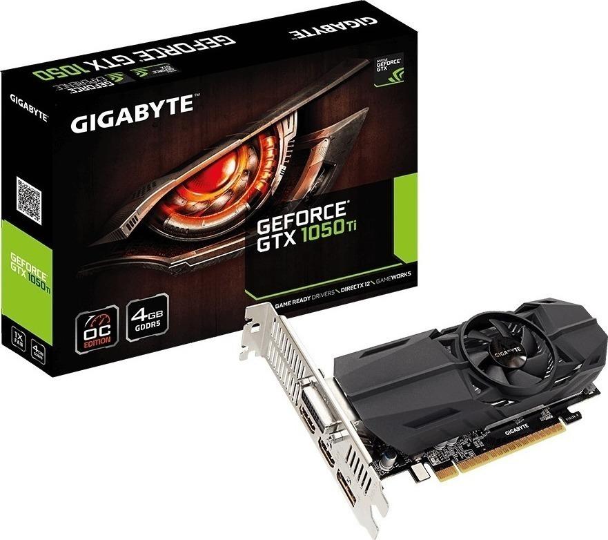 Gigabyte GeForce GTX1050 Ti 4GB OC LP Gaming Κάρτα Γραφικών