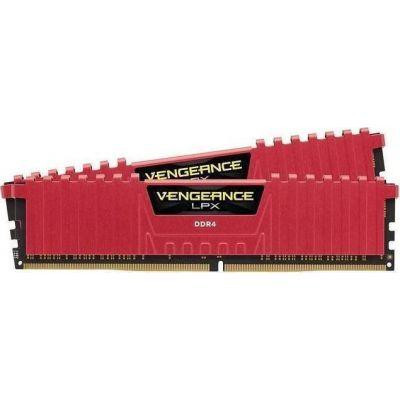 Corsair Vengeance LPX 8GB (2x4GB) DDR4-3000MHz Μνήμες Ram Red