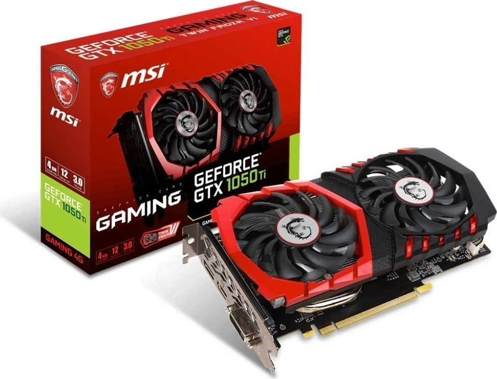 MSI GeForce GTX1050 Ti 4GB Gaming 4G Κάρτα Γραφικών