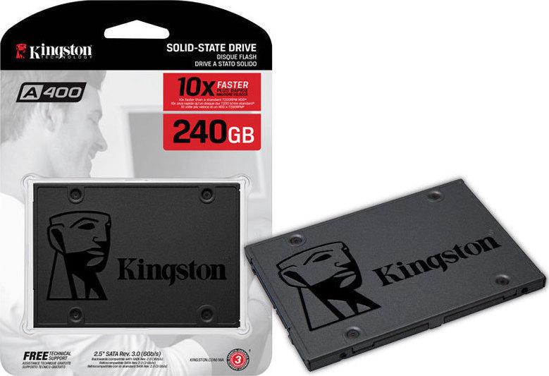 Kingston SSD A400 240GB Σκληρός Δίσκος* SSD SA400S37/240G