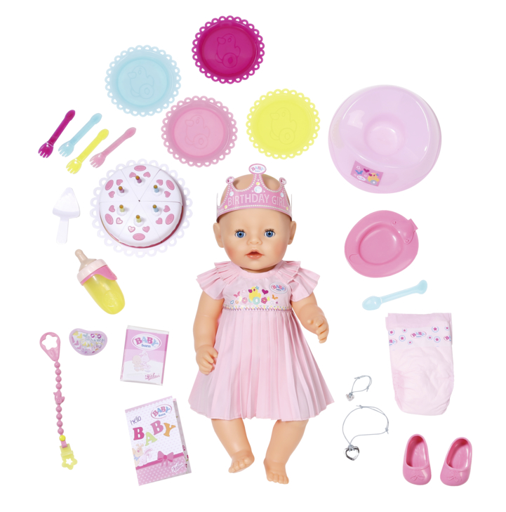 Zapf Creation Baby Born Interactive Happy Birthday Doll 824054