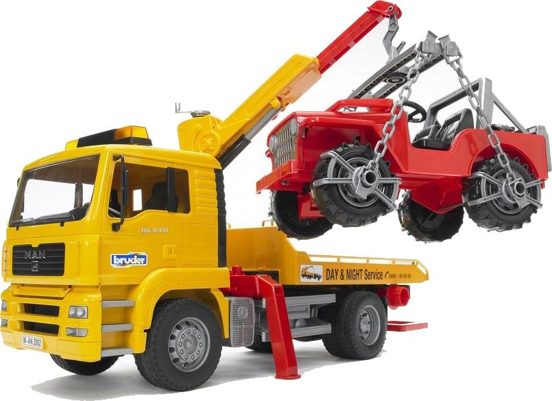 Bruder Φορτηγό Man Οδικής Βοήθειας με Γερανό & Τζιπάκι 02750