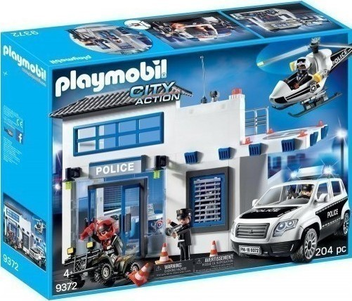 Playmobil City Action: Αστυνομικό Τμήμα με Περιπολικό και Ελικόπτερο 9372