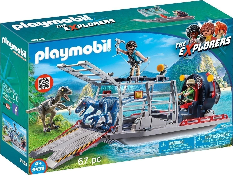 Playmobil The Explorers: Ταχύπλοο Λαθροκυνηγών και Οικογένεια Δεινοσαύρων 9433