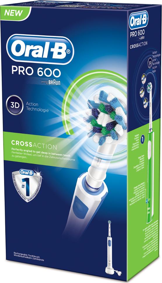 Oral-B Pro 600 Cross Action  Ηλεκτρική Οδοντόβουρτσα
