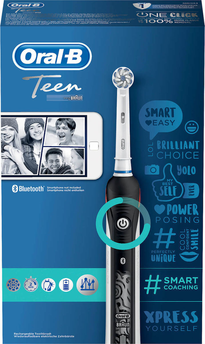 Oral-B Teen Smart Coaching Teen Ηλεκτρική Οδοντόβουρτσα Black