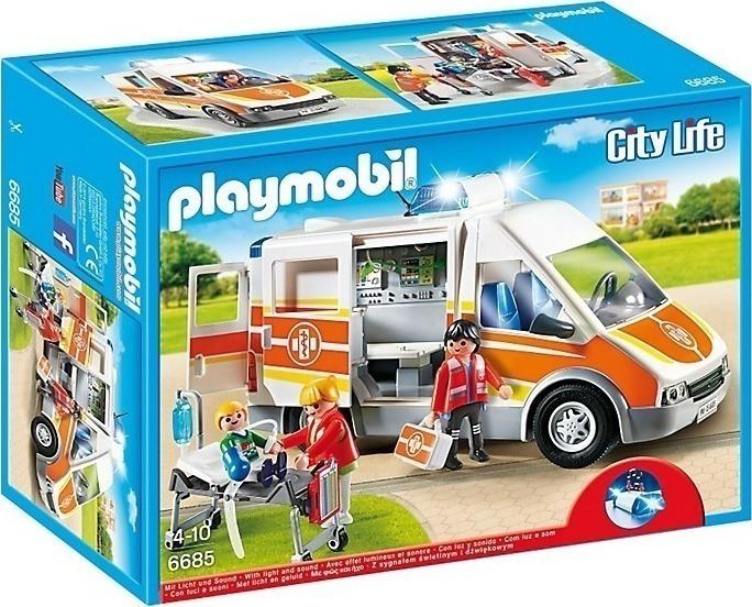 Playmobil Ασθενοφόρο με Φώτα και Ήχο 6685