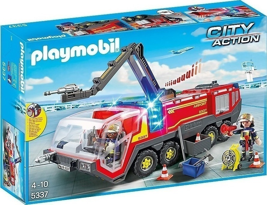 Playmobil Όχημα Αντιμετώπισης Αεροπορικών Δυστυχημάτων με Φως και Ήχο 5337