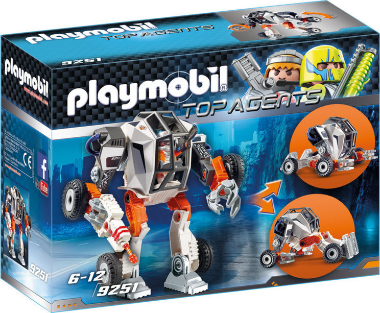 Playmobil Top Agents: Ρομπότ Του Πράκτορα T.e.c 9251