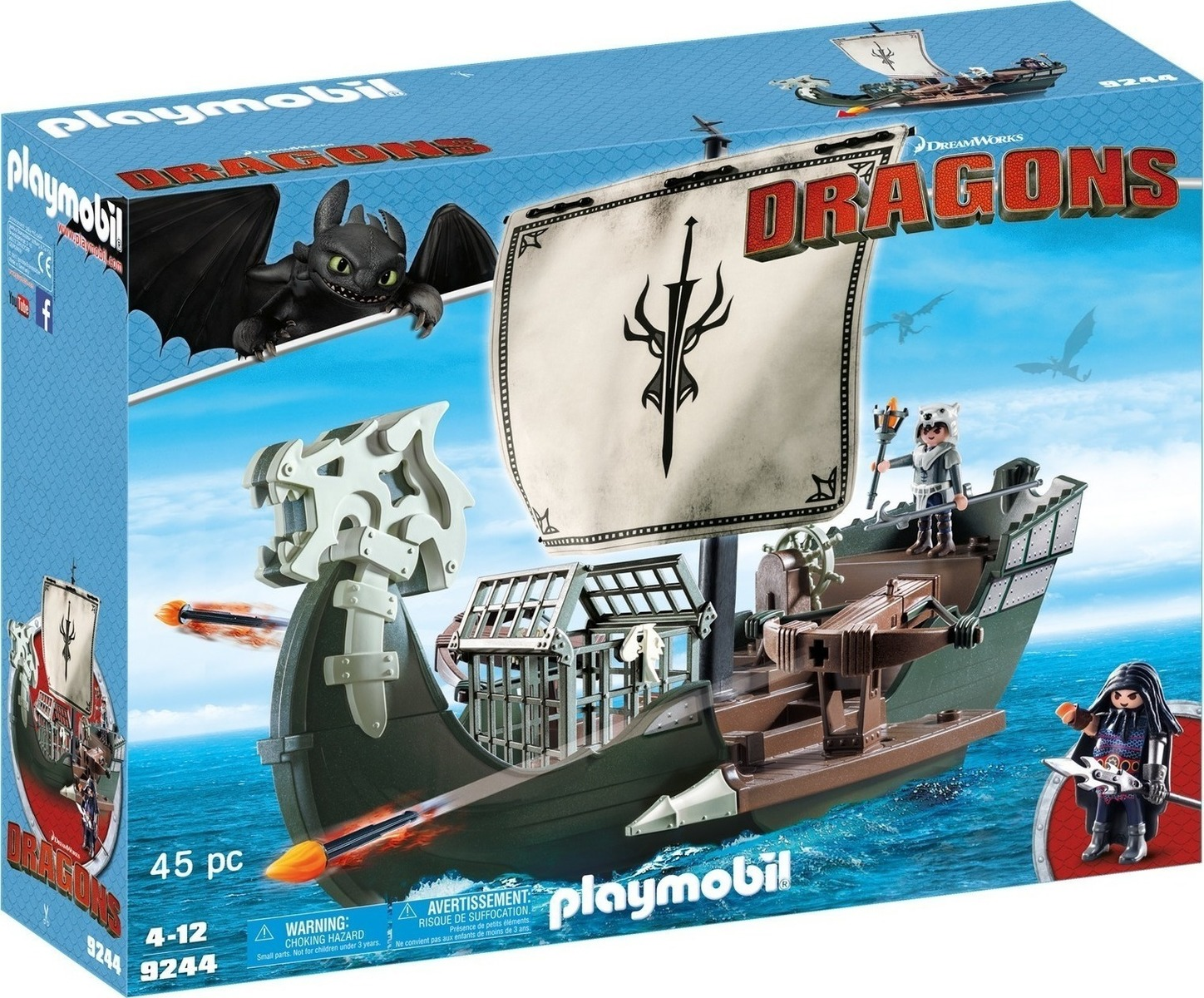 Playmobil Dragons: Drago's Ship 9244