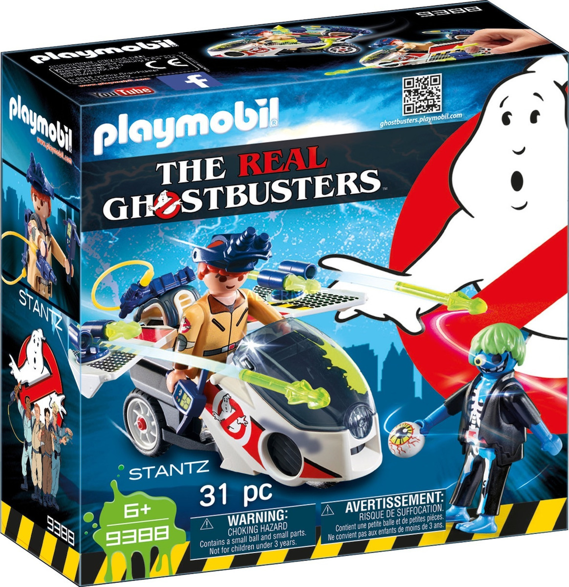 Playmobil Ghostbusters: Stantz with Flybike 9388