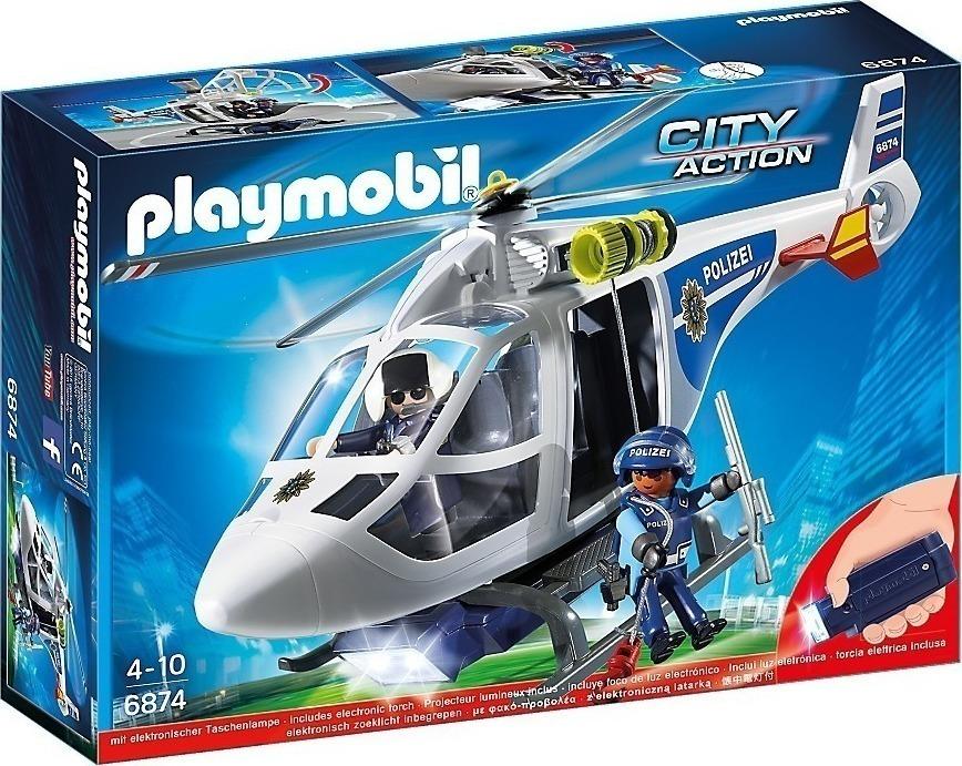 Playmobil Ελικόπτερο Αστυνομίας με Led Searchlight 6874