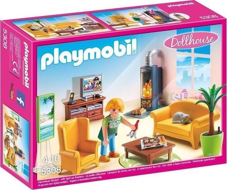 Playmobil Σαλόνι με Τζάκι 5308