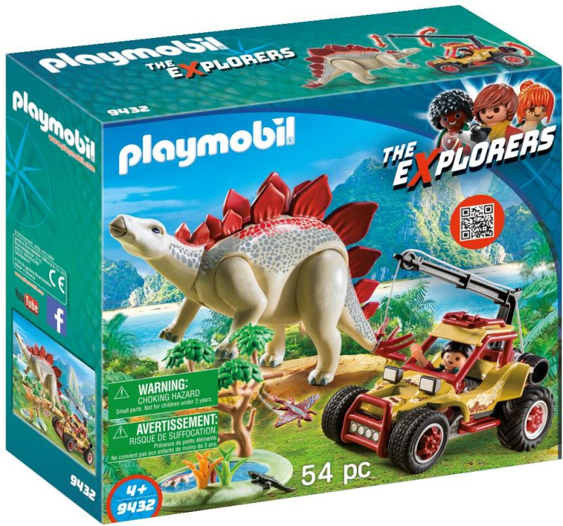 Playmobil The Explorers: Εξερευνητικό Όχημα και Στεγόσαυρος  9432