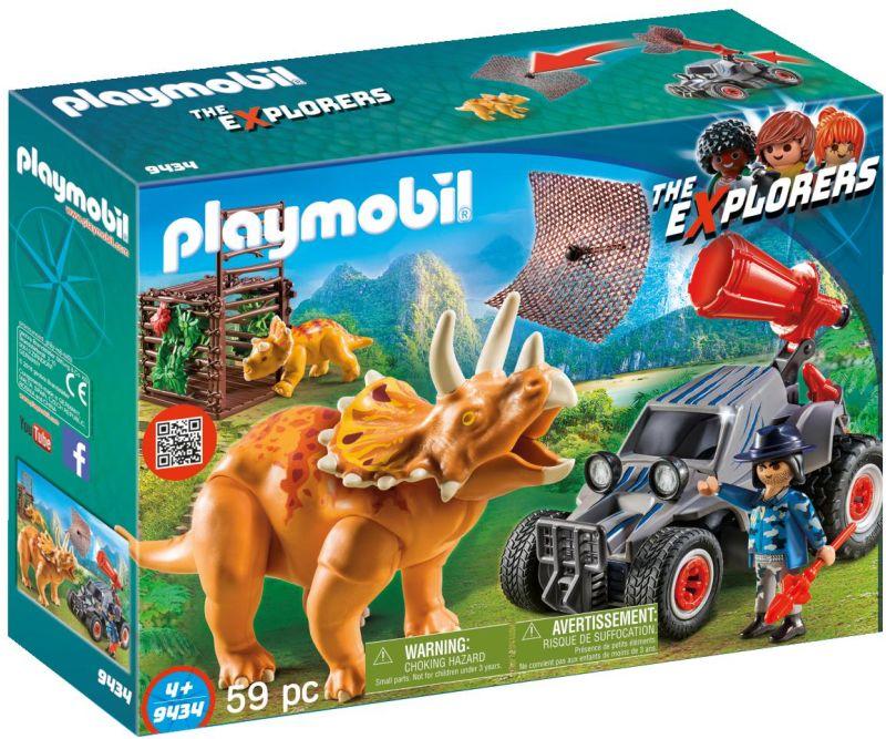 Playmobil The Explorers: Όχημα Λαθροκυνηγών και Οικογένεια Τρικεράτωψ 9434