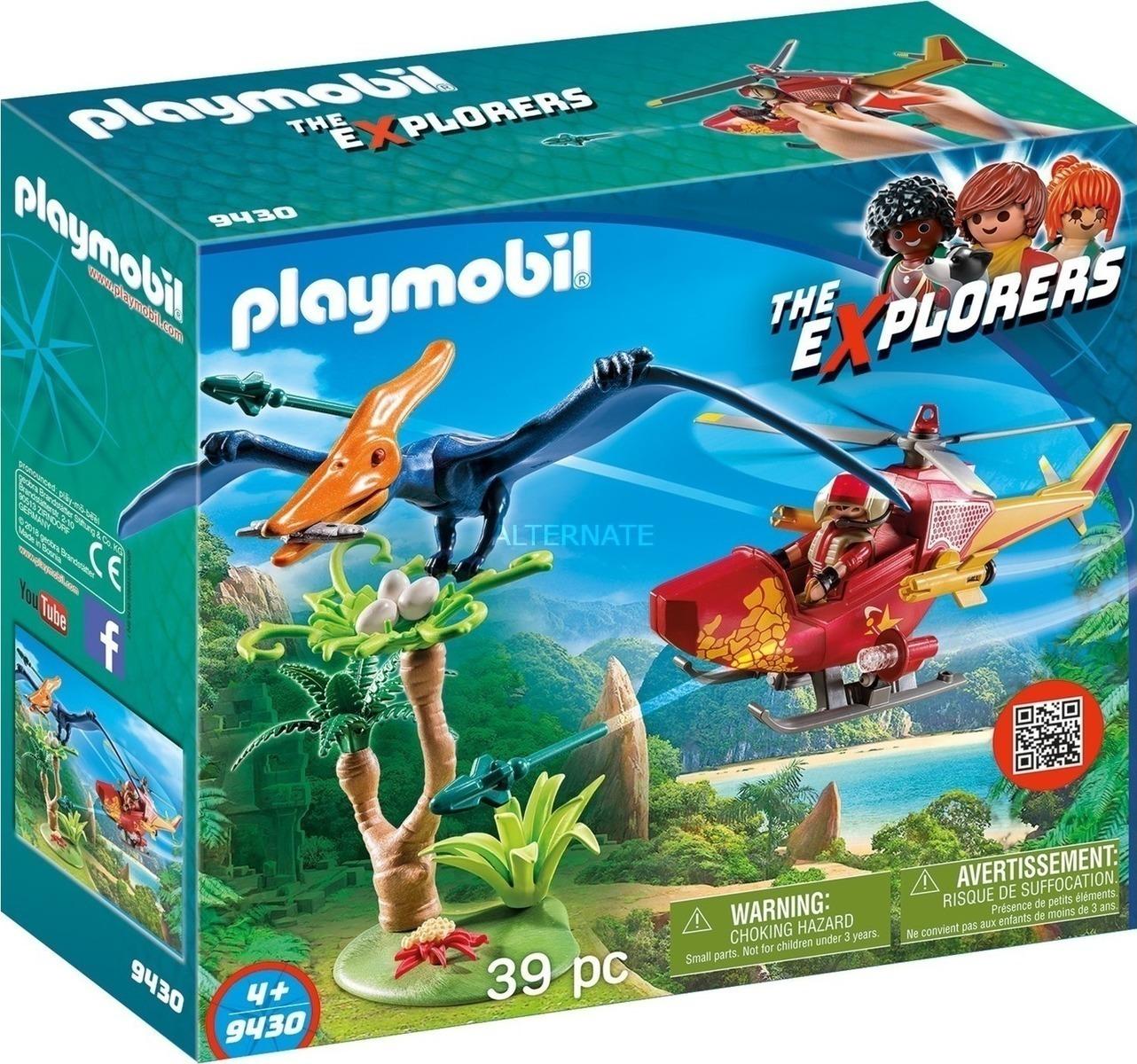 Playmobil The Explorers: Ελικόπτερο και Πτεροδάκτυλος 9430