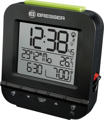 Bresser MyTime Easy RC Alarm Clock Black